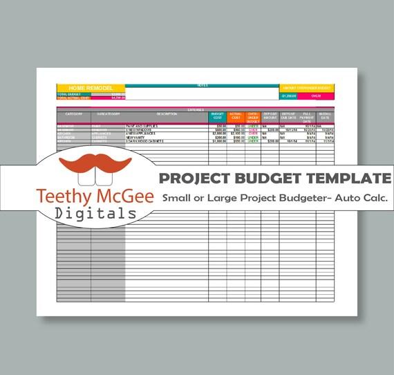 Projekt-Budget-Vorlage Detail Seite | Etsy