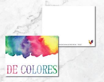 "Note Cards: Set of 10 ""De Colores"" Notes"