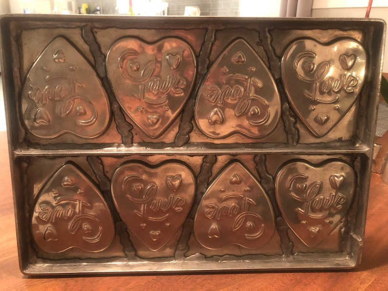 Eight heart mold Love Heart Antique Vintage Chocolate Mold