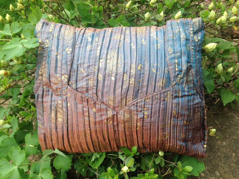 Sajanour  Metallic Sari Pillow & Cover image 0