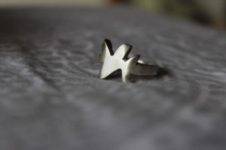 Samiomor  100% Silver Metal Splash Ring image 0