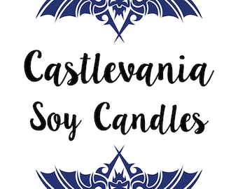 Castlevania Inspired Soy/Coconut Candles