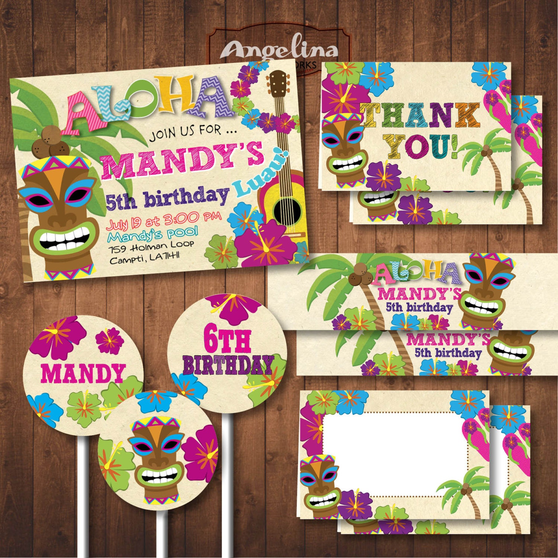 Fiesta hawaiana. Aloha Pack fiesta de cumpleaños. Tarjeta de | Etsy