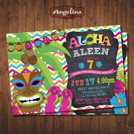 Kitchen Chairs Kijiji Montreal: Invitación Cumpleaños Piña Aloha Invitación