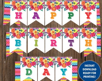 Fiesta Birthday Banner / Instant download / Digital Printable / Ready for printing