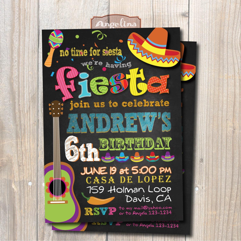 Invitación fiesta de cumpleaños de Fiesta Mexicana. Fiesta de | Etsy
