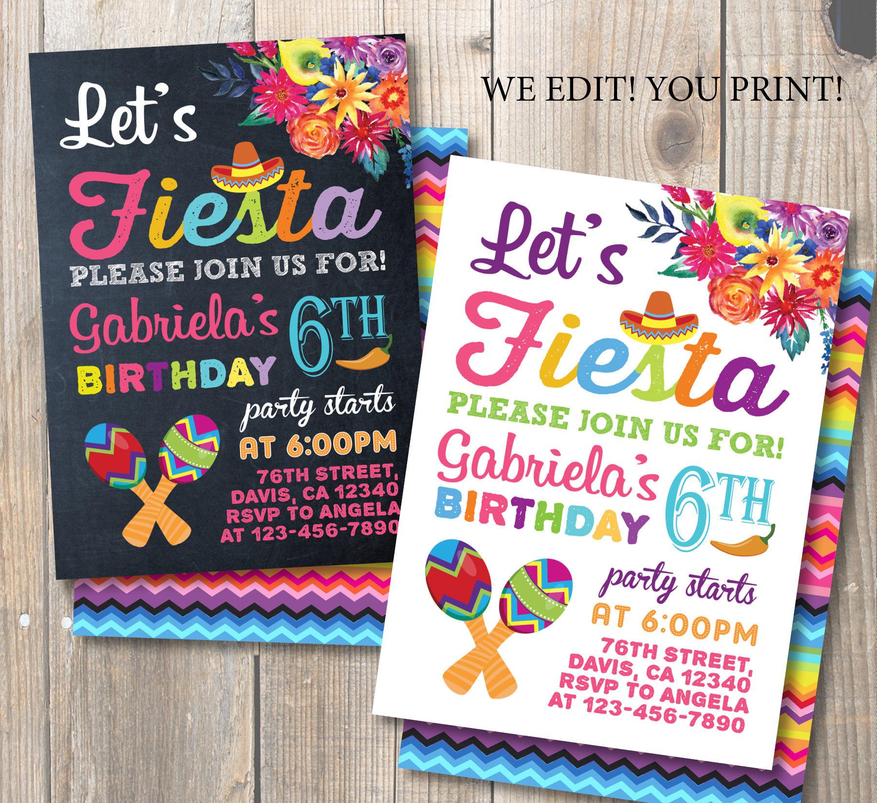 Invitación fiesta del cumpleaños de la fiesta. Fiesta | Etsy