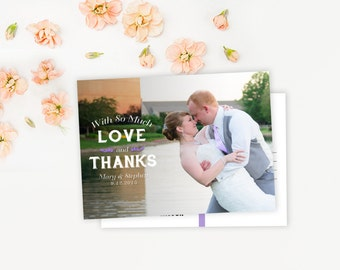 Custom Photo Thank You Card - Typography