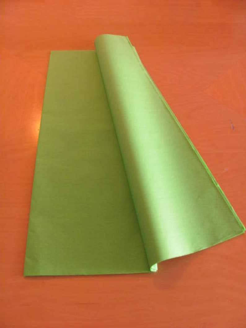25 Sheets of PAPEL CHINATissue paper 18 X 29 Limelimon light green