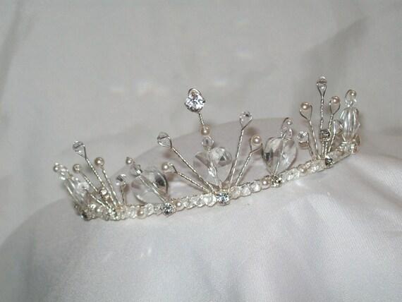 Tiara Free UK P/&P Stunning Silver Tone Diamante Single Row Headband