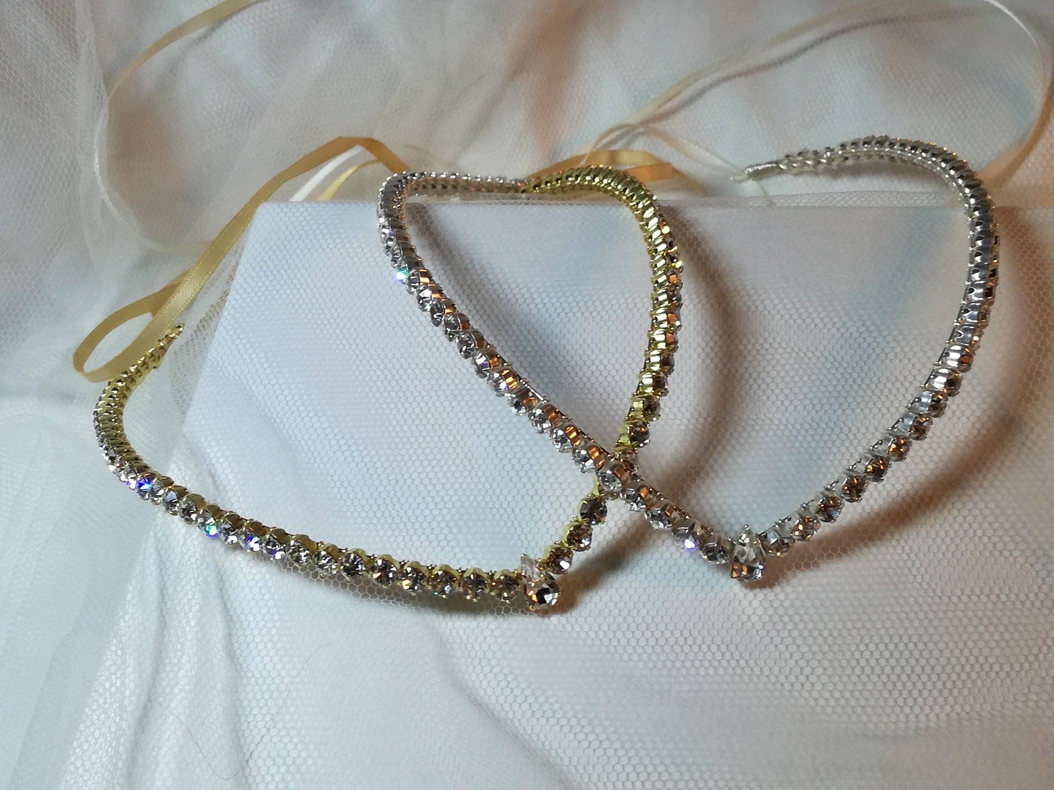 wedding bridal forehead headband tiara circlet brow band tiara ...