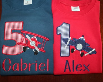 Airplane Birthday Shirt for Infant, Toddler, and Youth