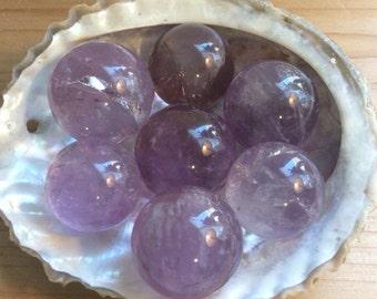 Small Amethyst Sphere, 20-24mm, Healing Stone,Healing Crystal, Spiritual Stone, Meditation, Tumbled stone