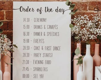 ec1360866 Personalised Order of the Day hand painted wooden sign