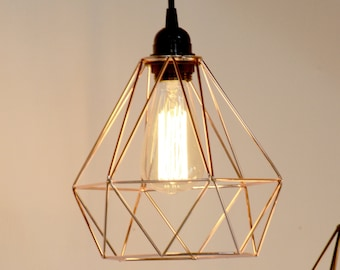 Industrial Cage Light- Copper
