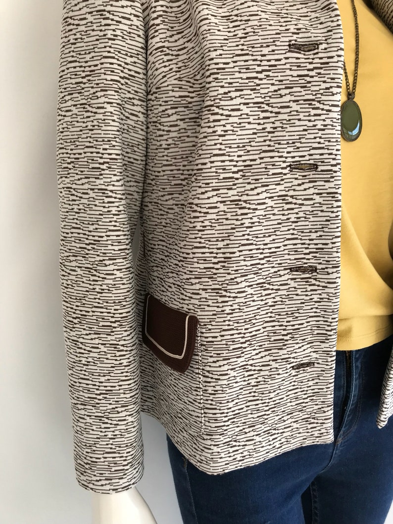 Vintage 1960/'s White and Brown Jacket