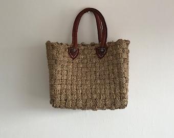 Vintage Straw Bag, Vintage Bag, Straw, Wicker, Straw Bag, Basket Bag, Wicker Bag