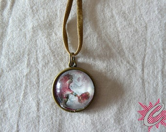 Under glass Cap charm necklace