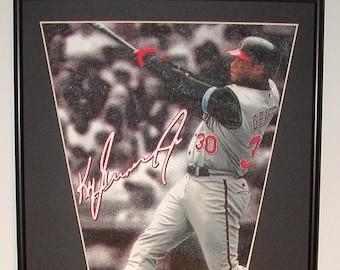 827af1b2b Cincinnati Reds Ken Griffey Jr Player Pennant & Cards...Custom Framed!