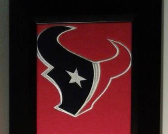 Houston Texans Heritage Team Banner....Framed