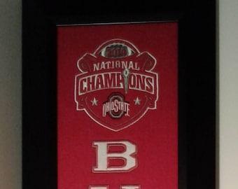 Ohio State Buckeyes National Championship Banner....Framed