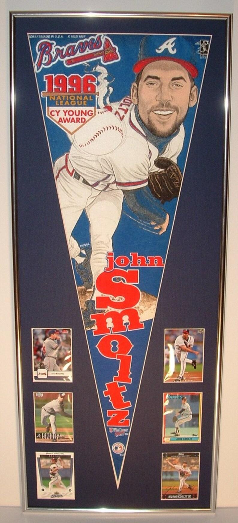 026ddb8c50f26 Atlanta Braves John Smoltz Player Pennant   Cards..Custom