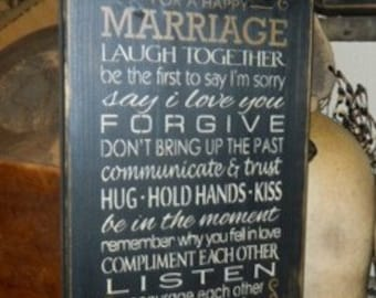Marriage Rules Typography Summer Primitive Sign