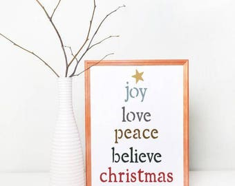 Joy Love Peace Craft Stencil