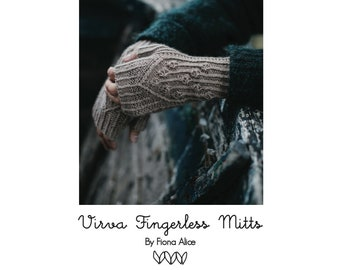 Virva Fingerless Mitts - PDF Knitting Pattern
