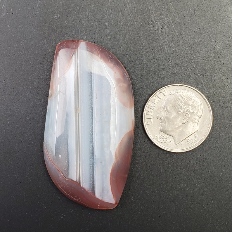 44 carat Botswana Agate Freeform Cabochon 44x23mm