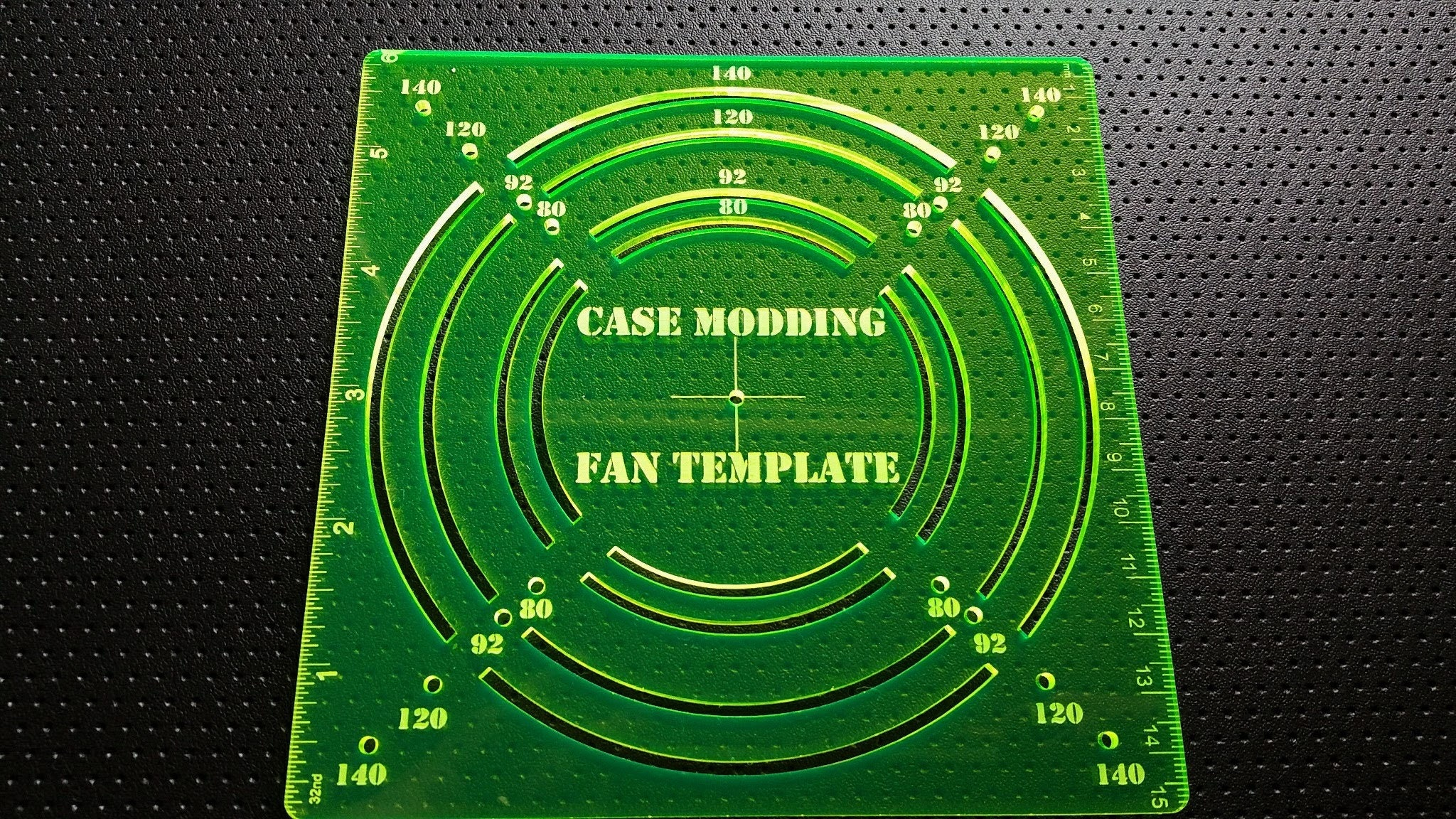 fan hole template guide for computer case modding 120mm etsy