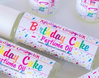 Birthday Cake Perfume Oil - Roll On Perfume, Womens Fragrance, Vanilla Perfume, Cake Fragrance Oil