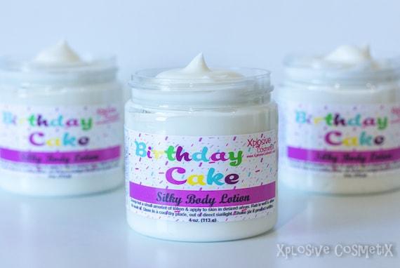 Birthday Cake Silky Body Lotion Silk Cream
