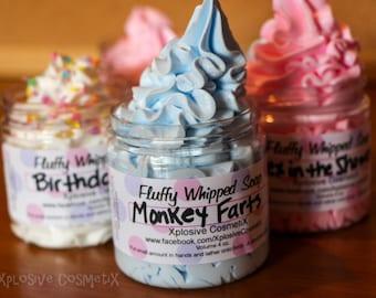 Fluffy Whipped Soap - Monkey Farts - 4 oz. - Vegan Friendly