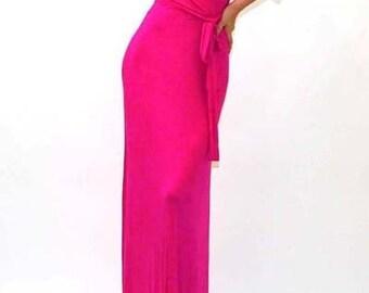 PINK Maxi Wrap Dress