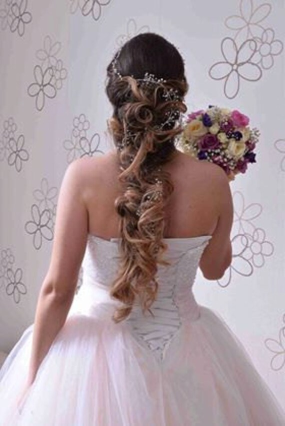 Bridal Hair Vine Wedding Hair Vine Flower Hair Vine Long Hair  6e5441b6f44f