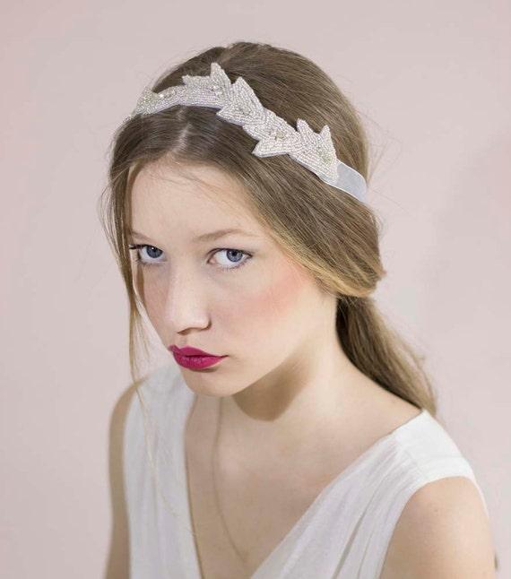 Wedding Crystal HeadbandBridal Headband RibbonBridal Beaded  a3860387845
