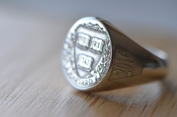 Sterling silver College Ring Harvard Universıty College