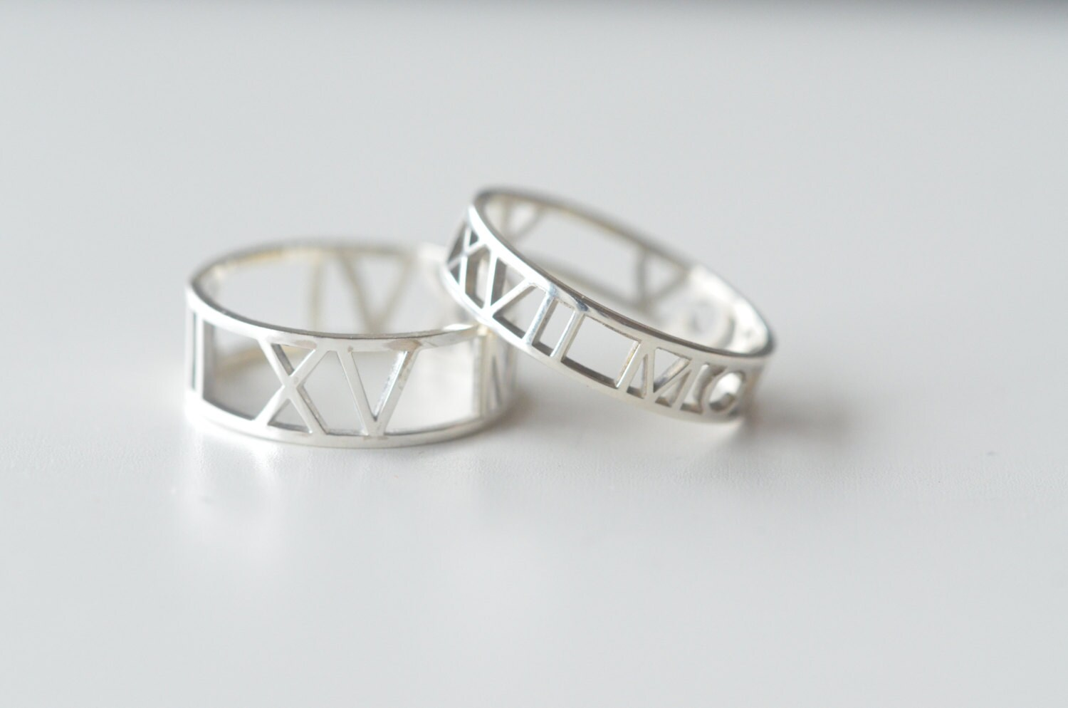 Couples Ring Couples wedding date ring Roman Numeral Ring ...