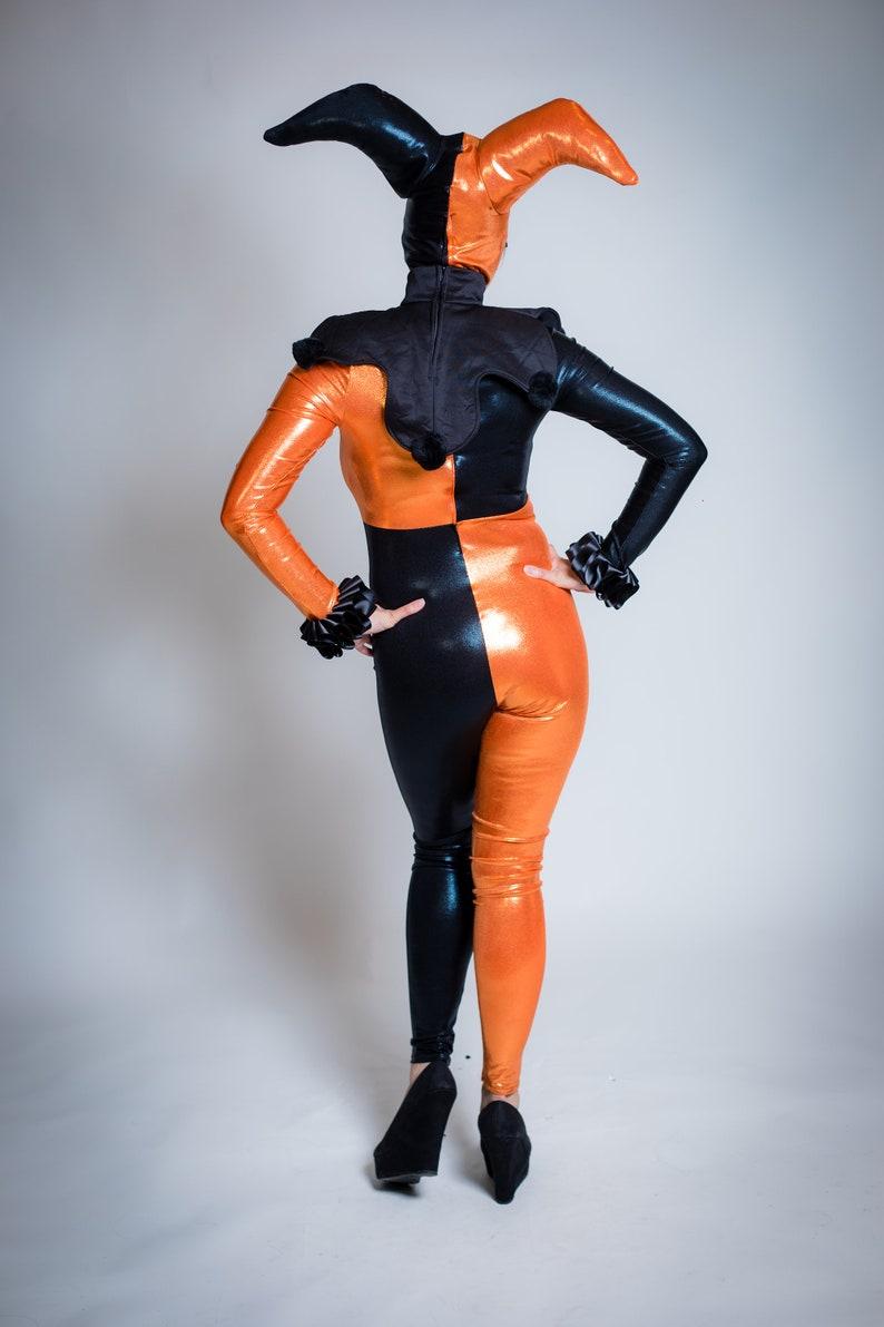 no diamonds Photoshoot sample Halloween Shiny Harlequin Costume size small