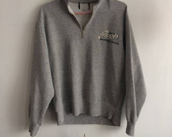 8c71ce24e5c614 Grey vintage ROOTS small mens sweat-shirt