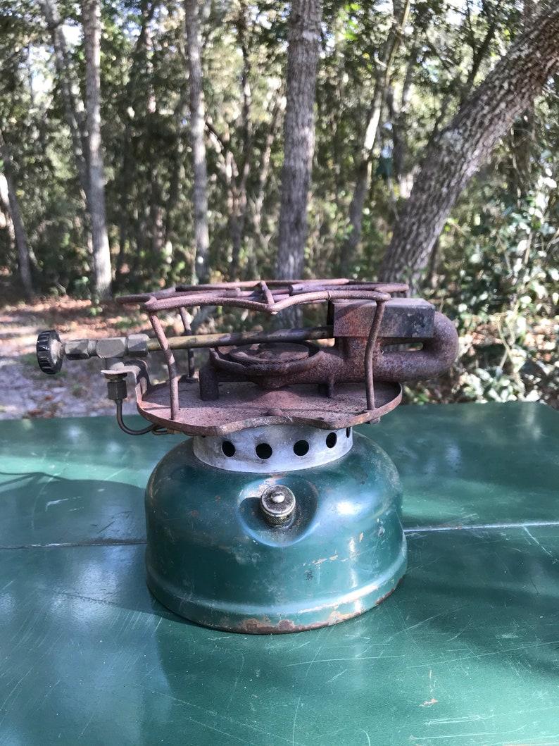 Coleman 500 Stove ** coleman stoves ** large coleman stove** spider stove ** single burner stove ** coleman vintage stove**