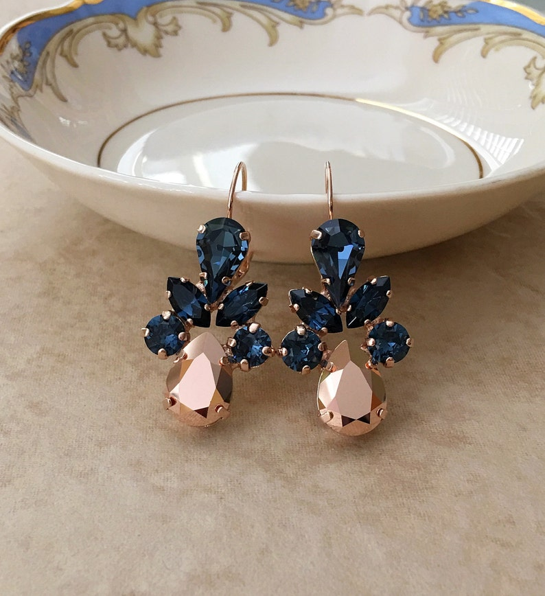 8212f339d Swarovski crystal earrings bridal earrings long earrings   Etsy
