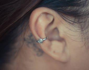 Moonstone Ear Cuff Sterling Silver