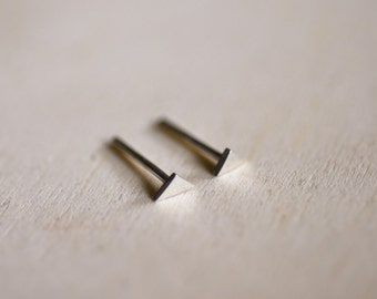 Mini Triangle Sterling Silver Earring Studs