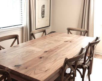 Reclaimed wood furniture etsy Pallet Dining Table Reclaimed Wood Parsons Kitchen Table Etsy Reclaimed Wood Dining Table Etsy