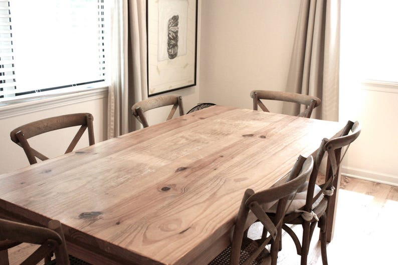 Kitchen Table Reclaimed Wood Parsons Dining Table