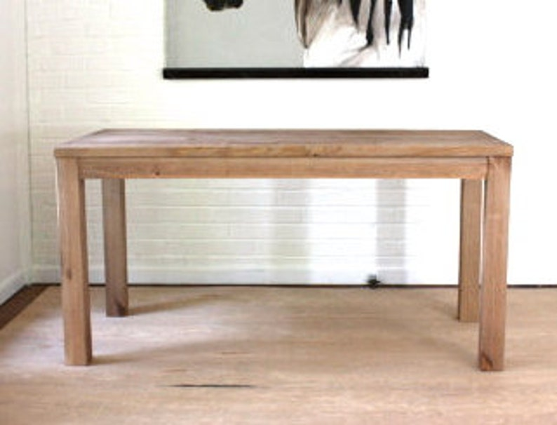 Reclaimed Wood Parsons Table In Natural Finish