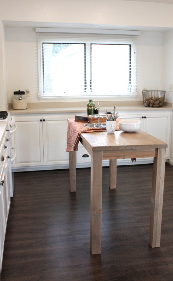 Counter Height Kitchen Island in Reclaimed Wood // 27
