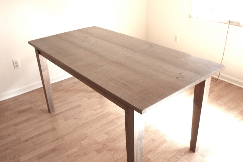Reclaimed Wood Simple Farmhouse Desk 60X30 in Weathered Wood Gray